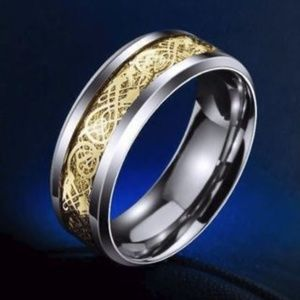 Other - Men's Dragon Tapestry Sterling Silver Ring .925